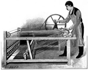 The Spinning Jenny was used to spin the thread for weaving