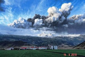Ash clouds caused by the eruption of Eyjafjallajökull
